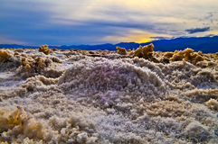 Salt Crystals in Devil's Golf Course Stock Image