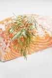 Salt cured salmon Stock Photos