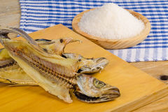 Salt cured whiting Royalty Free Stock Images