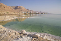 salt deposits and crystals at Dead Sea Region Royalty Free Stock Photography