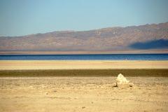 Salt deposits on the Salton Sea Stock Photos