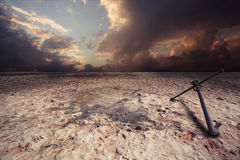 Salt desert Stock Image