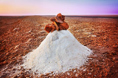 Salt desert Royalty Free Stock Photo