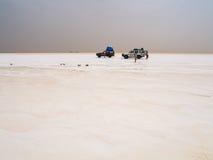 Salt desert and lake, Ethiopia Royalty Free Stock Photos