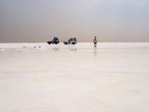 Salt desert and lake, Ethiopia Royalty Free Stock Photo