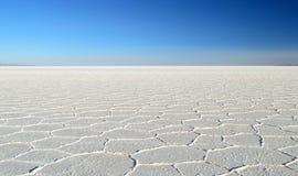 The salt desert Stock Photo