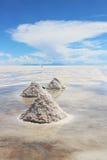 Salt desert. Royalty Free Stock Photo