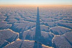 Salt desert Stock Image