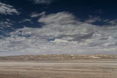 Salt desert at the sceleton coast Royalty Free Stock Photography