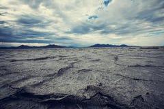 Salt desert Royalty Free Stock Photo