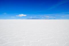 Salt Desert, Uyuni, Bolivia. Details of hexagonal formations of the Salt Flats Royalty Free Stock Image