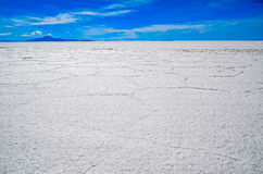 Salt Desert, Uyuni, Bolivia. Details of the hexagonal formations of the Salt Flats Royalty Free Stock Photo