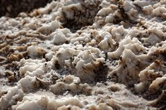 Salt at Devil's Golf Course, Death Valley National Park, California stock photography