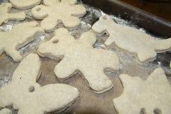 Salt Dough Christmas Decorations Royalty Free Stock Images