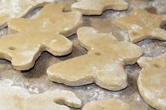 Salt Dough Christmas Decorations Stock Photos