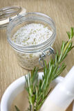 Salt with dry rosemary Royalty Free Stock Photos
