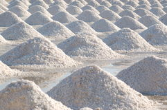Salt evaporation pond Royalty Free Stock Photo