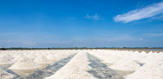 Salt evaporation pond Royalty Free Stock Photos