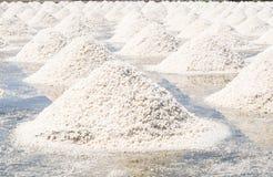 Salt evaporation pond. Salt pile in Thailand, salt pan Royalty Free Stock Photo