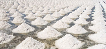 Salt evaporation pond Royalty Free Stock Images