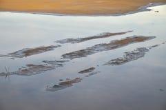 Salt evaporation pond - Salt flats Stock Photos
