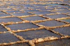 Salt evaporation ponds Stock Images