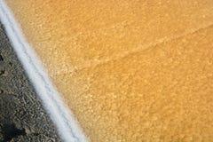 Salt evaporation ponds. Salt evaporation ponds, also called salterns, salt works or salt pans Stock Image