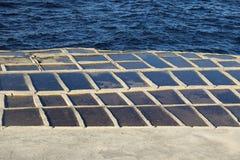 Salt evaporation ponds, Malta Royalty Free Stock Photography