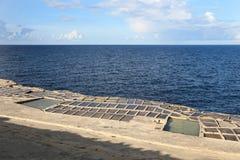 Salt evaporation ponds, Malta Stock Photos