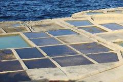 Salt evaporation ponds, Malta Stock Images
