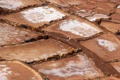 Salt evaporation ponds in Maras in Peru Royalty Free Stock Photo