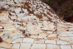 Salt evaporation ponds. Maras. Sacred Valley. Cusco region. Peru Royalty Free Stock Photos