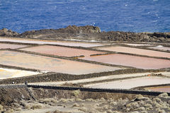 Salt evaporation ponds Stock Photos