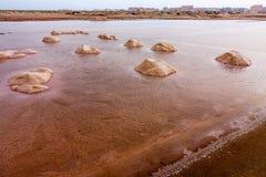 Salt evaporation Salinas Royalty Free Stock Images