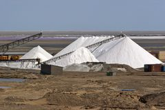 Salt extraction Royalty Free Stock Photos