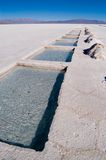 Salt Extraction. Salinas Grandes, Jujuy, Argentina royalty free stock image