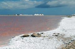 Salt extraction Stock Image