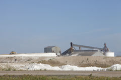Salt extraction industry in Saskatchewan, Canada. Sodium sulphate plant in the prairies of Chaplin, Saskatchewan, Canada Stock Image