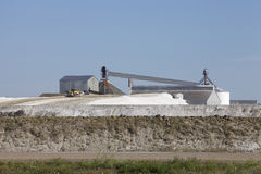 Salt extraction industry in Saskatchewan, Canada. Sodium sulphate plant in the prairies of Chaplin, Saskatchewan, Canada Royalty Free Stock Photo