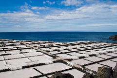 Salt extraction la palma Royalty Free Stock Image