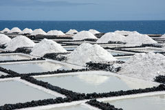 Salt extraction at La Palma, Canary Islands. Salt extraction from the ocean at La Palma, Canary Islands stock images