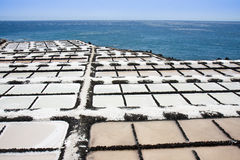 Salt extraction at La Palma, Canary Islands. Salt extraction from the Atlantic Ocean at La Palma, Canary Islands stock photography