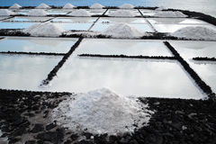 Salt extraction plant at salinas. Royalty Free Stock Photos