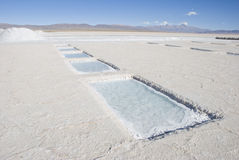 Salt Extraction Pools Royalty Free Stock Photo