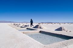 Salt Extraction Pools. Salt Extraction, Salinas Grandes, Jujuy, Argentina stock images