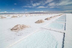 Salt Extraction Pools in Salinas Grandes Royalty Free Stock Photography