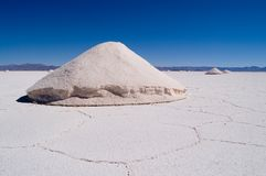 Salt Extraction, Salinas Grandes Stock Image