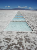 Salt extraction in Salinas Grandes (Argentina) Stock Photo