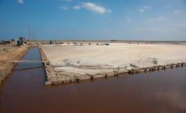 Salt extraktion av havet Royaltyfri Foto