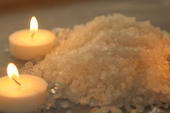Salt för bad Arkivbild